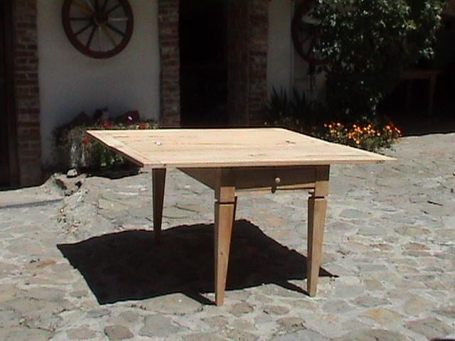 32 tavolo legno doppio apertura a libro