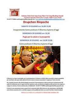 Dhupchen Rinpoche programma 19 20  giugn