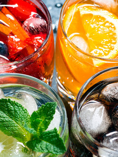 fresh-ice-fruit-drinks- gourmet restaurant - farrys boutique hotel