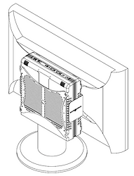 Fixando o equipamento no suporte vesa - Supera Computadores