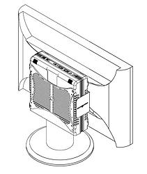 Encaixando o equipamento no suporte vesa - Supera Computadores