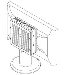 Fixando equipamento no monitor - Supera Computadores