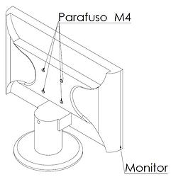 Furação dos monitores para suporte vesa - Supera Computadores