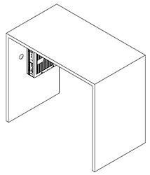 Equipamento pendurado na mesa com suporte vesa - Supera Computadores