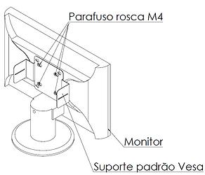 Fixando o suporte vesa no monitor - Supera Computadores