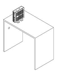 Equipamento em cima da mesa com suporte vesa pé - Supera Computadores