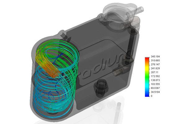 Radium Coolant Expansion & Swirl Pot