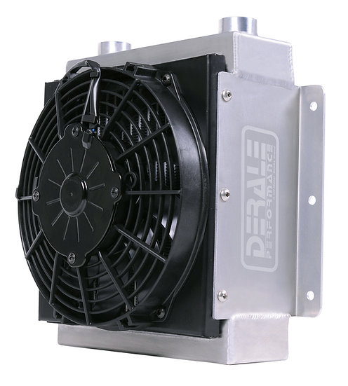 Large High-Flow Oil Cooler w/Fan
