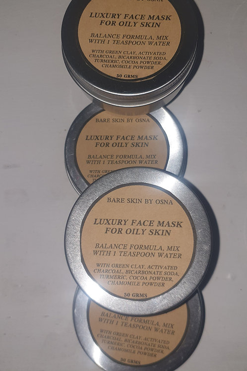 Luxury Face Mask for Oily Skin- Balance formula with Green Clay 50 gms