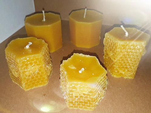 Medium Bees Wax handmade candle
