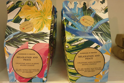 Relaxation and Peace uplifting and calming blend candle