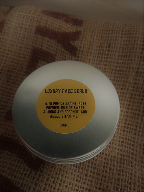 Luxury Face Scrub with pumice grains, rose powder and Vitamin E 50g
