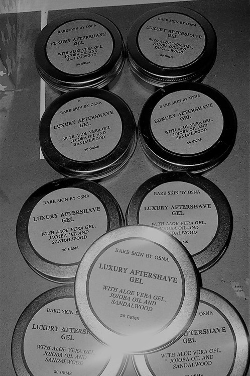 Most luxurious mens aftershave gel with the finest ingredients.