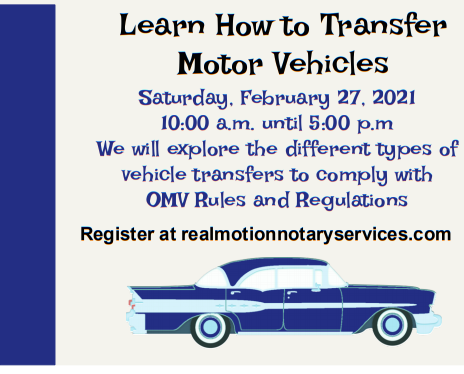 Vehicle Transfer Course