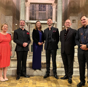 Cappella Fede with her Excellency, Sally Axworthy, British Ambassador to the Holy See in San Giorgio in Velabro, 13 October 2019