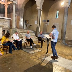 Cappella Fede rehearsing in San Giorgio in Velabro, 13 October 2019