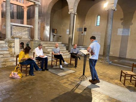 Cappella Fede rehearsing, San Giorgio in Velabro