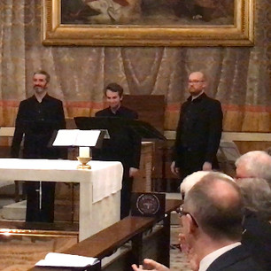 The final Gloria Patri (Glory be to the Father etc.) from Gaudeamus omnes, composed by Peter Leech for Cappella Fede and the Venerable English College, Rome. Live world premiere performance, 14 April 2018.