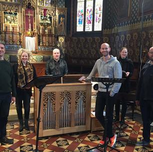 Members of Cappella Fede at Oscott College Chapel, Birmingham