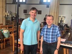 Peter Leech & Recording Sound Engineer, John Taylor