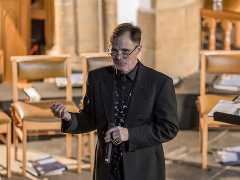 Peter Leech giving a pre-concert talk