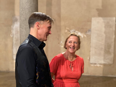 Peter Leech and Sally Axworthy, British Ambassador to the Holy See