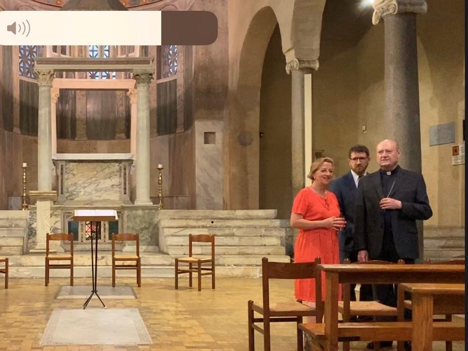 Cardinal Ravasi & Sally Axworthy, British Ambassador to the Holy See