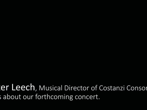 Peter Leech talks about forthcoming concert