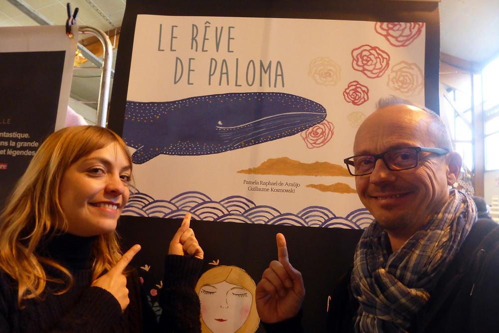 Pamela Raphael de Araujo et Guillaume Kosmowski pour la première séance de dédicace de Le rêve de Paloma