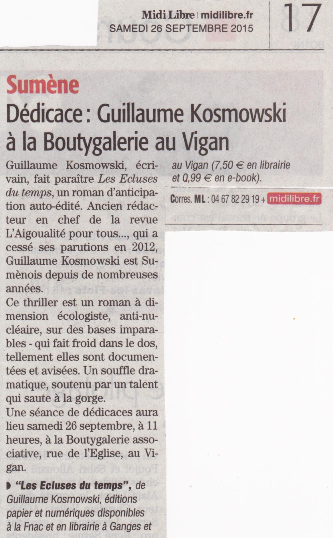 Midi-Libre 26/9/2015