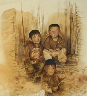 [SOLD] CA005 - Ramrocha - Happy Nepali Children
