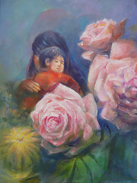 Mother Love 36cm X 46cm Acrylic 2015 (Ta