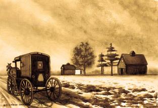 [SOLD] CA001 - Amish Buggy 1
