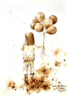 [SOLD] CA017 - Walking My Balloons
