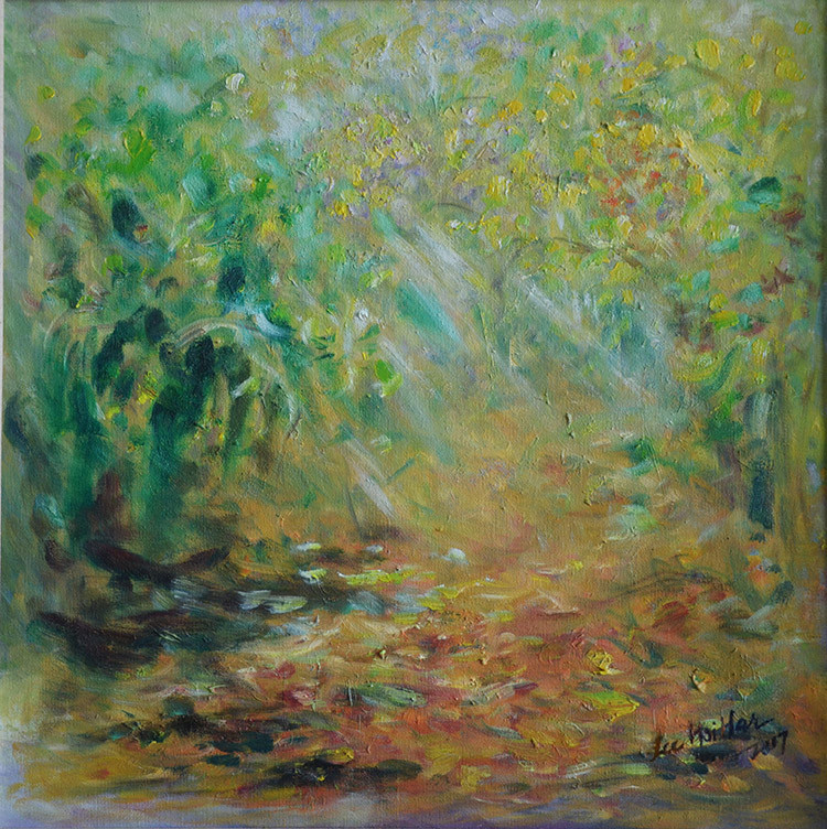 song of nature-series1 oil on canvas 46c