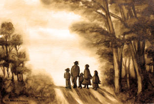 [SOLD] CA002 - Amish Family