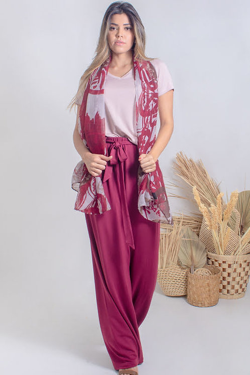 005145 - Calça Moletinho Pantalona