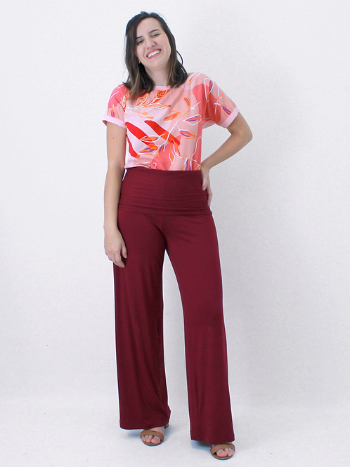 005279 - Blusa 2 Tecidos Dec Redondo