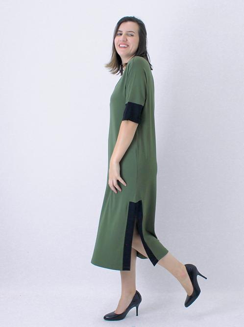 005338 - Vestido Visco Abert Lat 2 Cores