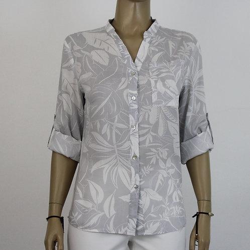 005020 - Camisa Viscose Estamp com Bolso ML - Del Carmen