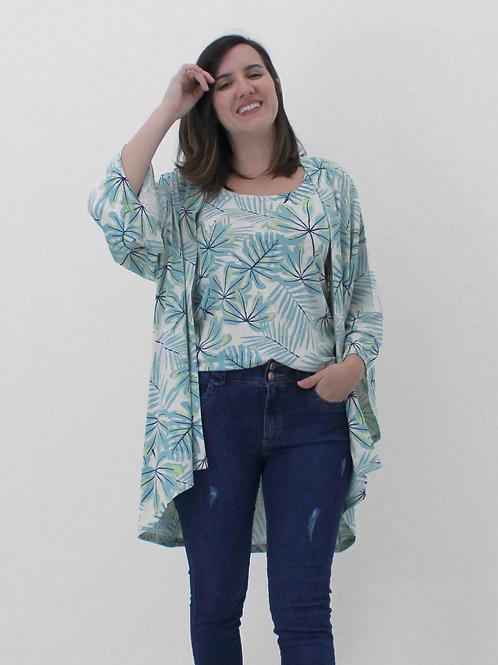 005367 - Kimono Visco Estampada