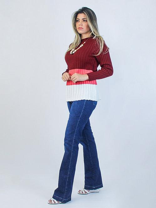 004331 - Blusa Tricot Colorida