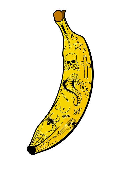 Badass Bananas Prison - A4 / A3 print