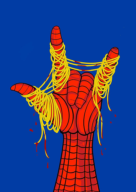Superfood series Spiderman - A4 / A3 print
