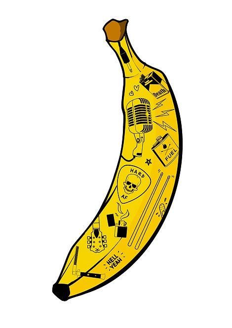 Badass Bananas Rock - A4 / A3 print