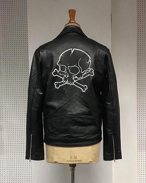 STUDIO LOGO Hand painted leather jacket