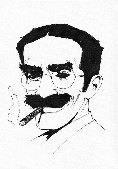 Groucho  portrait  - A4 / A3 print