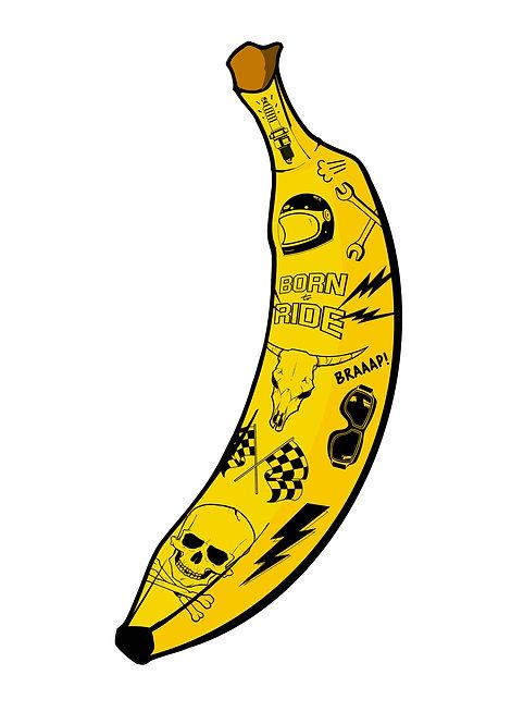 Badass Bananas Biker - A4 / A3 print