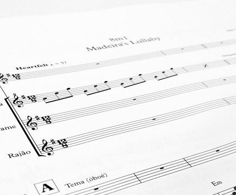 Written score for Madeira Film Experience