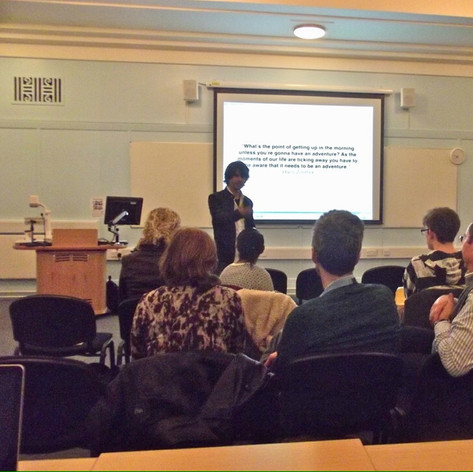 During a talk @ Westminster University